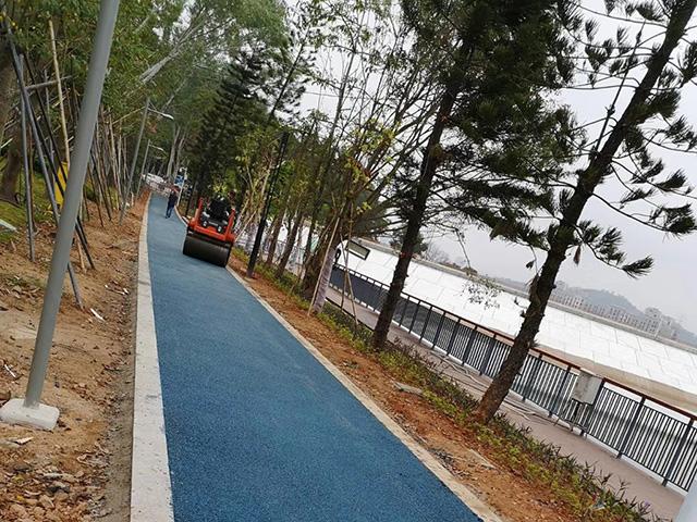 深圳公园道路沥青施工
