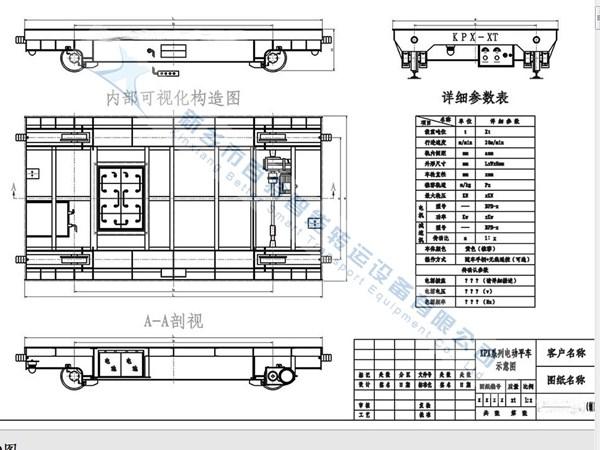 河南電動平車BXC軌道平車圖片