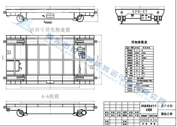 BDG低壓軌道電動平車